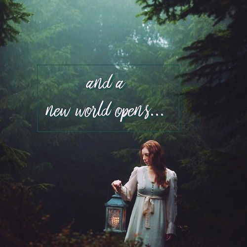 And a new world opens