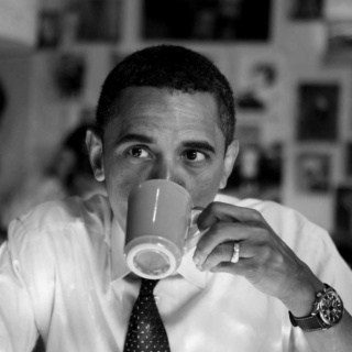 Morning lattes with Obama