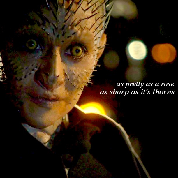 a mouth as sharp as her thorns