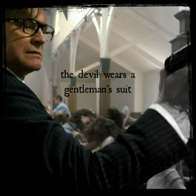the devil wears a gentleman's suit