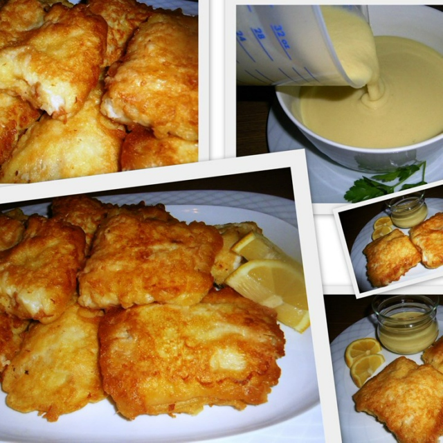 Fried Cod with Garlic Sauce