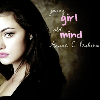 young girl, old mind.