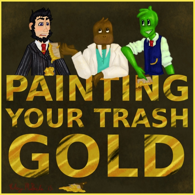 painting your trash gold