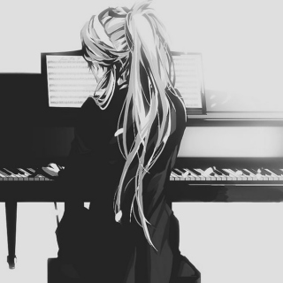 anime on piano