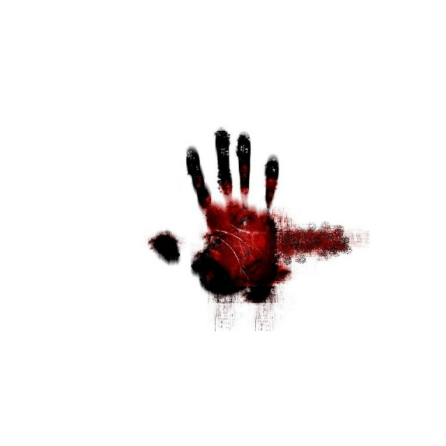 There's blood in my hands