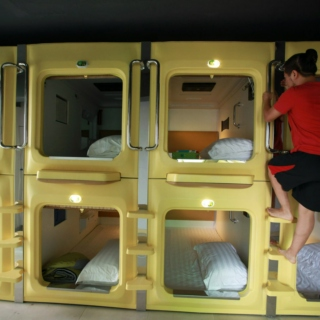 overnighting in a capsule hotel