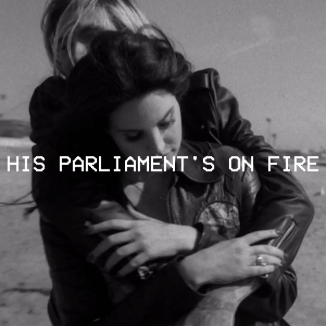 his parliament's on fire & his hands are up