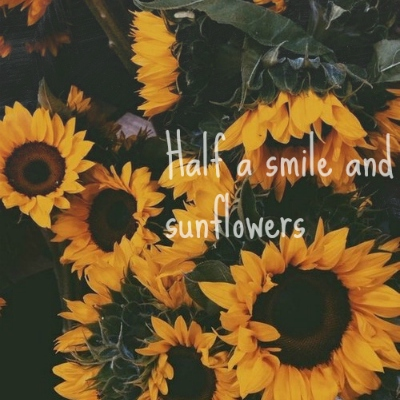 Half a smile and sunflowers