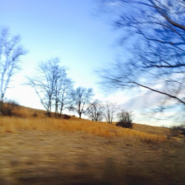driving through the countryside II