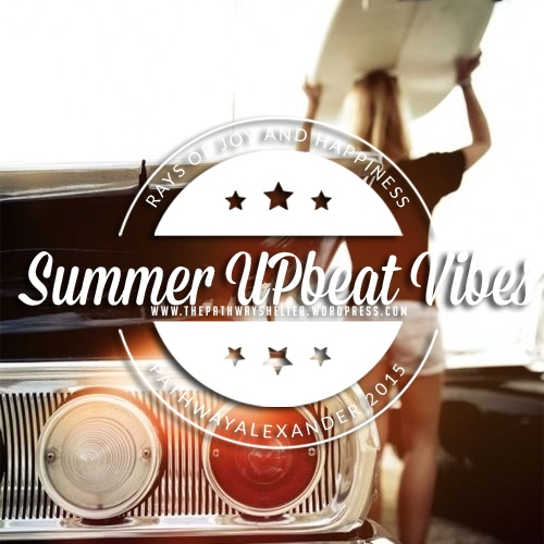 summer upbeat vibes, rays of joy and happiness