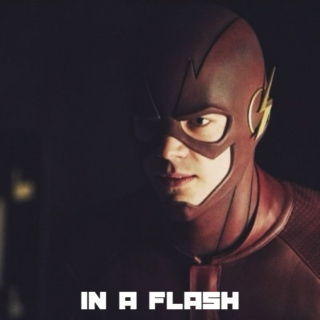 in a flash