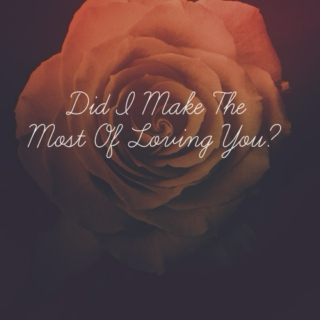 Did I Make The Most of Loving You?