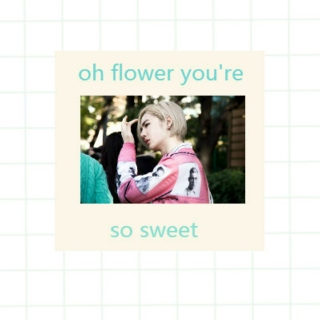 oh flower you're so sweet