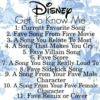 Disney Get To Know Me