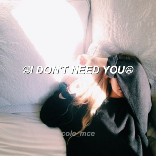 i dont need you