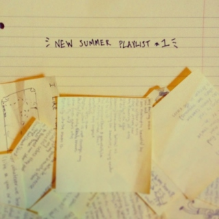 new summer playlist #1