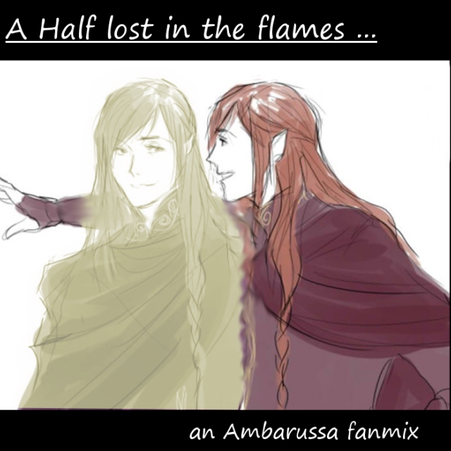 A half lost in the flames...