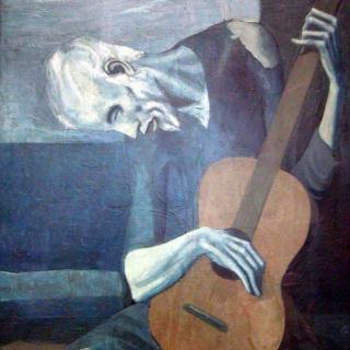 Old Man with Guitar