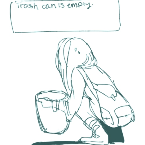 Trash can is empty.