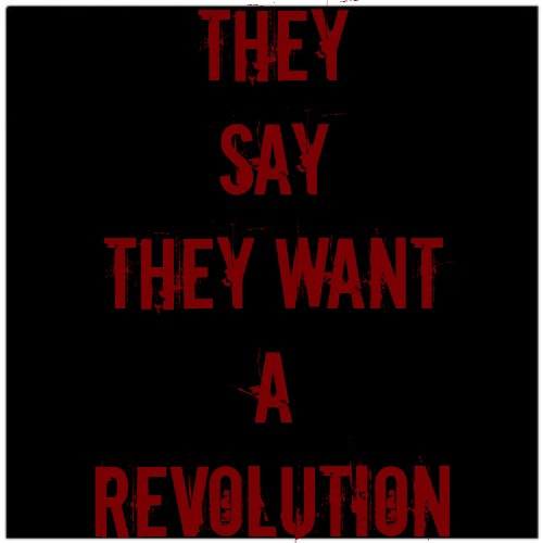 They Say They Want a Revolution.