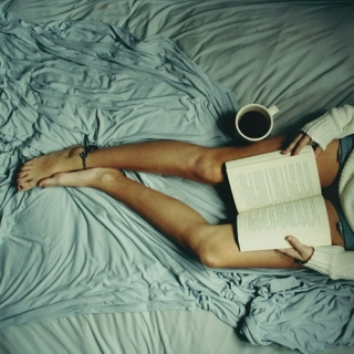 Coffee, books, rain and a playlist!