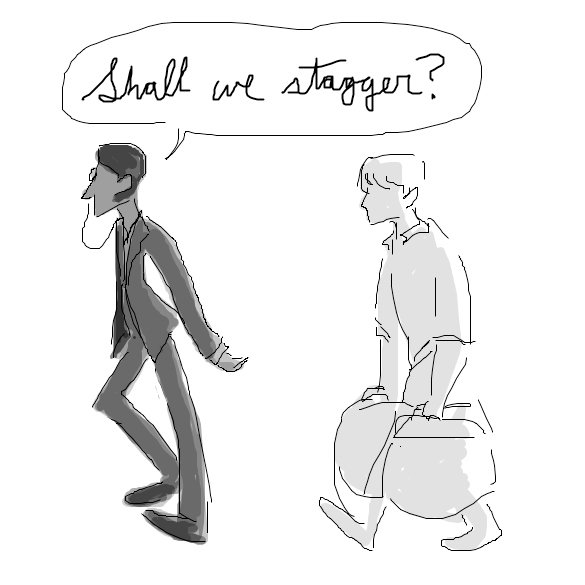 Shall we stagger?