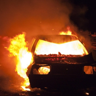 Burning Cars & Gunshots