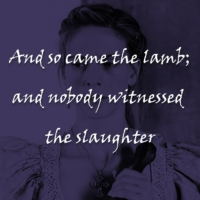 And so came the lamb; and nobody witnessed the slaughter