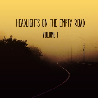 headlights on the empty road