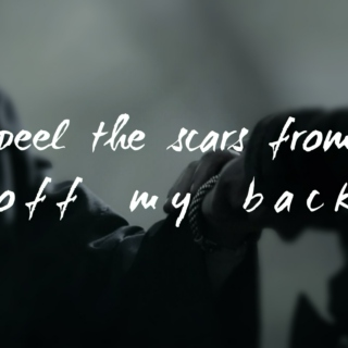 peel the scars from off my back