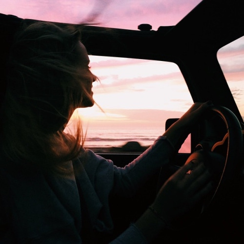 Driving while the sun is shining