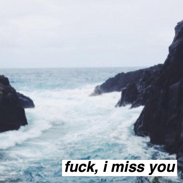 fuck, i miss you;
