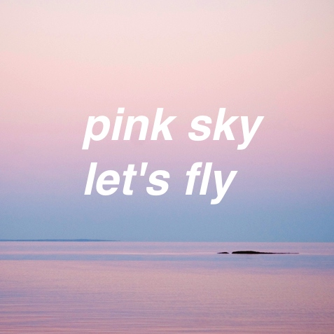 pink sky let's fly