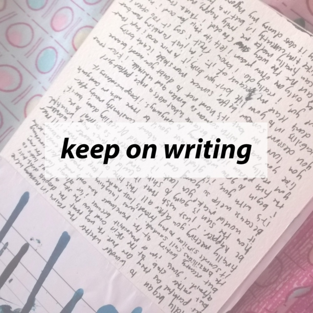keep on writing