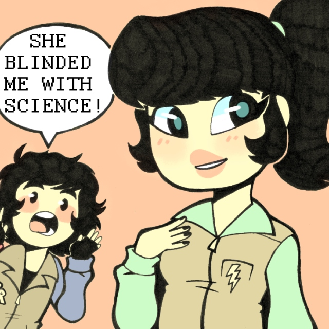 SHE BLINDED ROCKET WITH SCIENCE