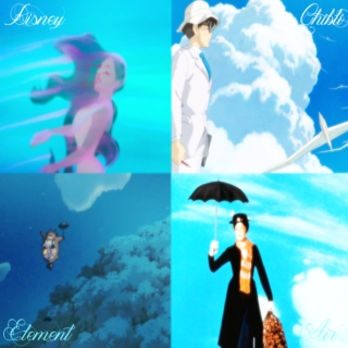 Disney and Ghibli four elements - Air