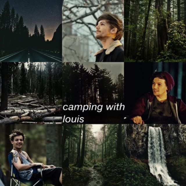 camping with louis