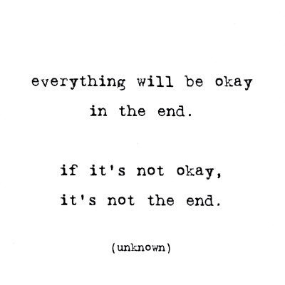 You'll be okay, I promise.