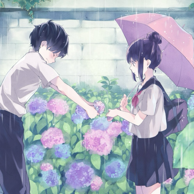 rainy days in anime
