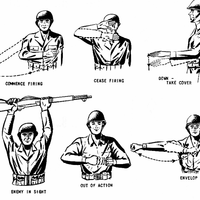hand signals to communicate