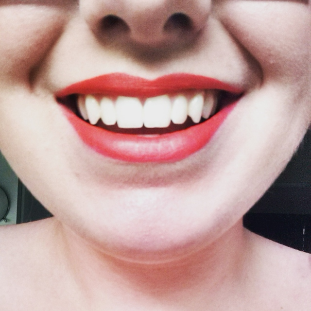 the feeling of wearing brightly coloured lipstick