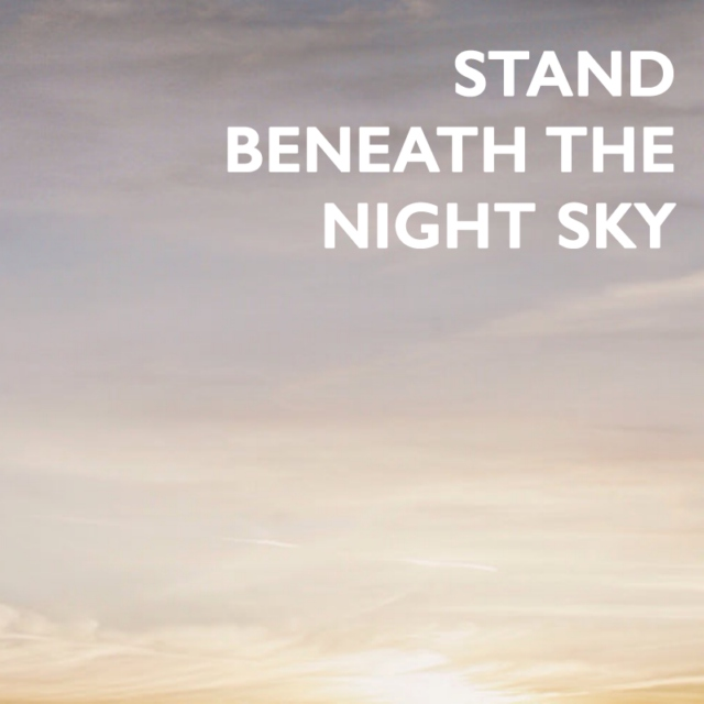 stand beneath the night sky