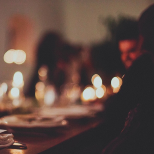 heart full of wine and candle lights