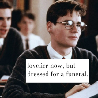 lovelier now, but dressed for a funeral.