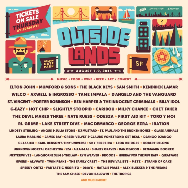 Outside Lands 2015 · Where I'll Be At