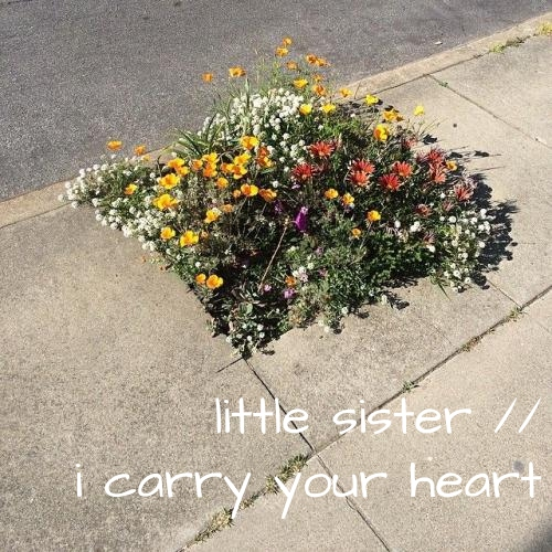 little sister // i carry your heart