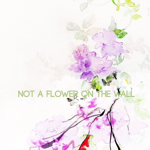 not a flower on the wall
