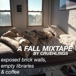 exposed brick walls, empty libraries & coffee