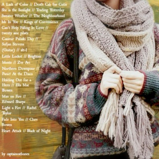 knit scarves and cold fingers