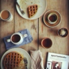 for coffee and waffles